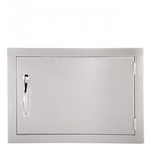 Porte simple horizontale réversible Sunstone PM 59 cm inox