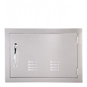 Porte simple horizontale ventilée Sunstone OG PM 59 cm inox