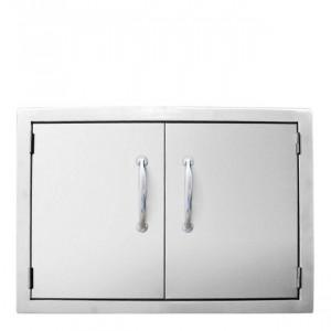 Moyenne porte horizontale double pour cuisine d'extérieur Sunstone Classique
