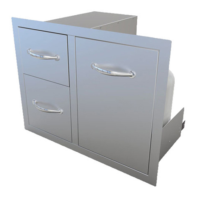 Combo tiroir double avec porte