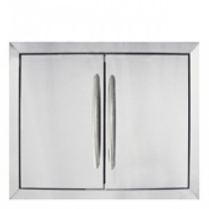 Porte double encastrable Napoleon M inox