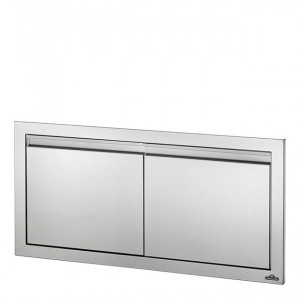 Porte double encastrable Napoleon XL inox