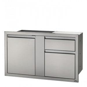 Porte et tiroirs à déchets encastrables Napoleon XXL inox