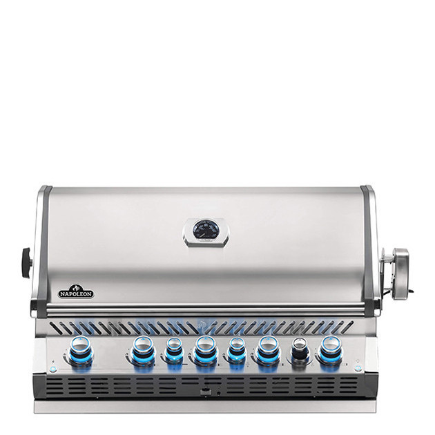 Barbecue gaz naturel encastrable Napoleon Pro 665 inox