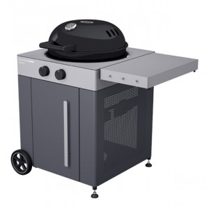 Pack Promo barbecue gaz sur chariot OutdoorChef Arosa 570 G Steel gris