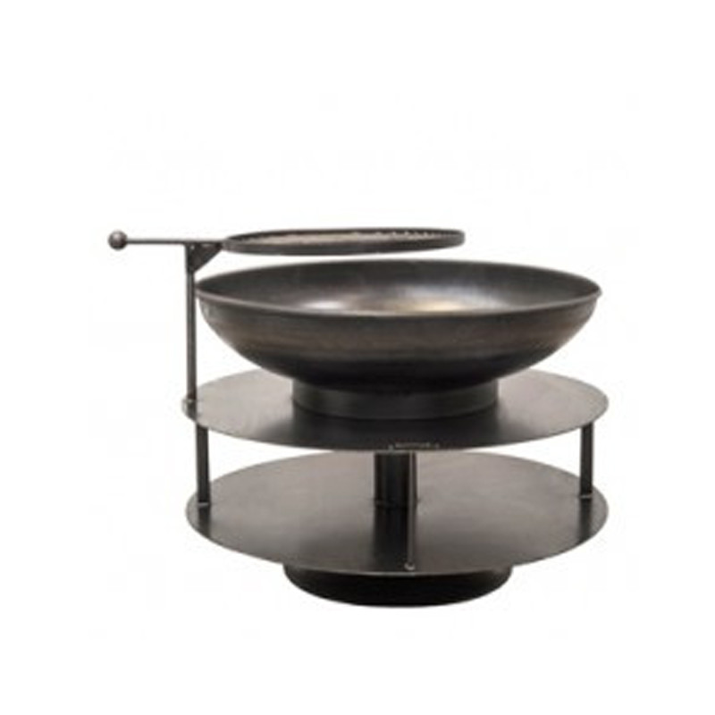 Braséro avec 4 grilles Firepit Ring of Logs 120