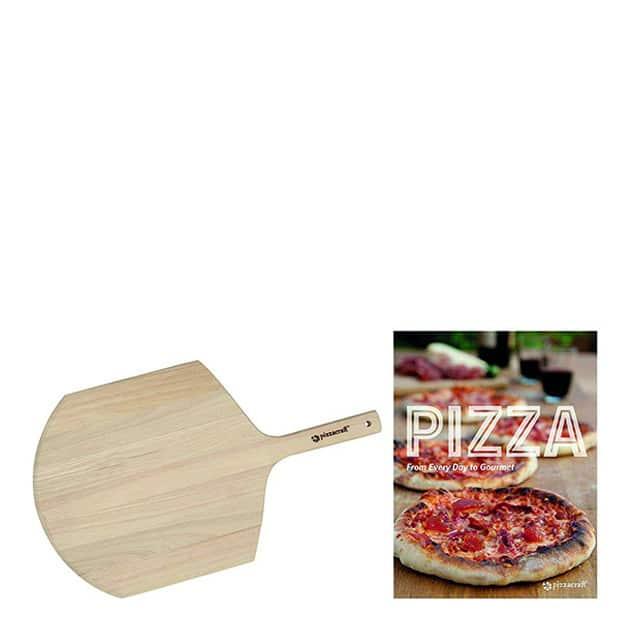 Pelle à pizza et livre de recettes
