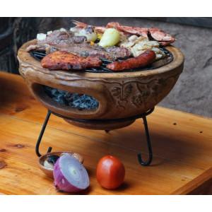 Barbecue de table sur base Mexico Trade Center Aztec 44 cm rouge