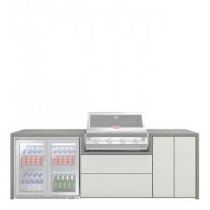 Meuble Fresco pour Signature 4 feux encastrable & réfrigérateur 2 portes