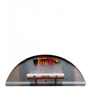 Porte four à pizza Delivita inox