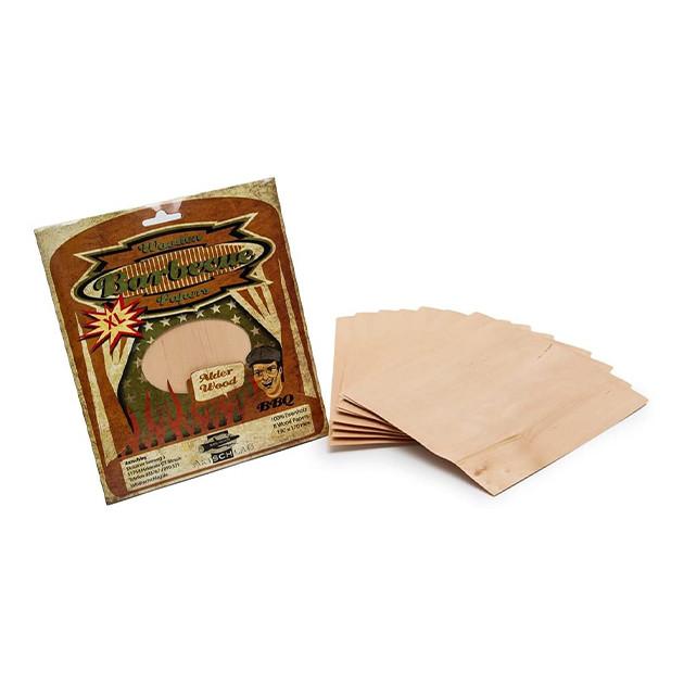 Papier de bois de fumage Aulne 190X150 Par 8