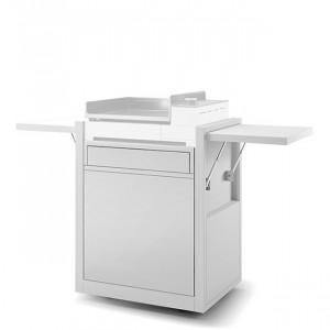 Chariot fermé plancha Forge Adour Premium 45 acier blanc