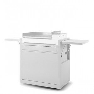 Chariot fermé plancha Forge Adour Premium 60 acier blanc