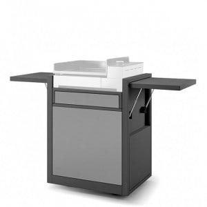 Chariot fermé plancha Forge Adour Premium 45 acier noir et gris