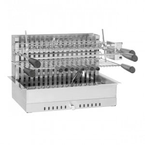 Barbecue grilloir encastrable charbon Forge Adour 950 inox