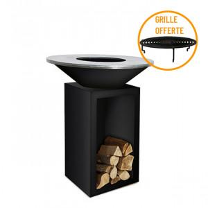 Braséro à bois plancha Ofyr Storage 100 Black