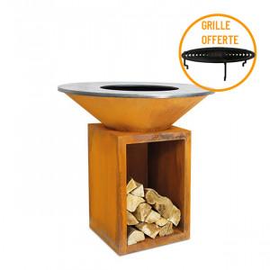 Braséro à bois plancha Ofyr Storage 100 Corten
