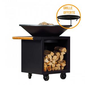 Braséro à bois plancha Ofyr Storage 100 Pro Black