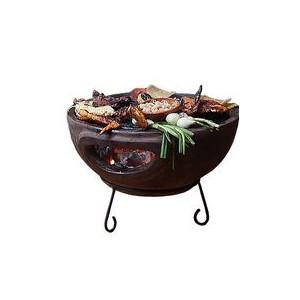 Barbecue de table sur base Mexico Trade Center Aztec 44 cm marron