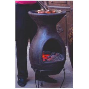 Cheminée mexicaine barbecue sur base Mexico Trade Center Acapulco 100 cm marron