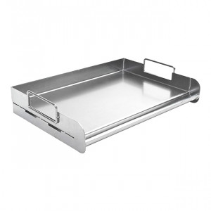 Plancha Inox Rectangulaire pour Barbecue Gaz Charcoal Companion