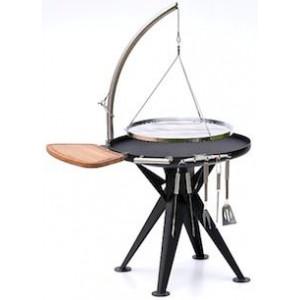 Barbecue charbon Nielsen Bal grill 800 grille chromé et portant