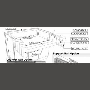 Kit d'encastrement pour barbecue Sunstone BIPRO 665 sur meuble
