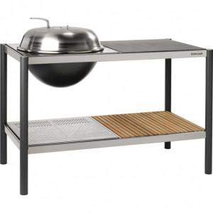 Barbecue rond charbon 54 Dancook Kitchen sur chariot personnalisable
