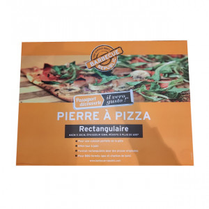 Pierre à pizza rectangulaire barbecue 44 x 30 cm Barbecue Republic