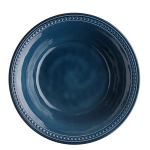 6 assiettes creuses incassables Marine Business Harmony Blue mélamine