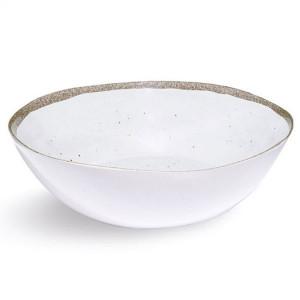 Saladier incassable Zani Terrae Bianco 31 cm mélamine
