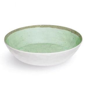 2 assiettes creuses incassables Zani Terrae Verde mélamine