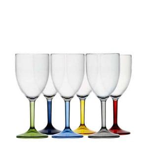 6 verres à vin incassables Marine Business Base couleur