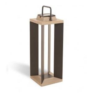 Lampe solaire Les Jardins Teckalu / noir 500 lumens 65 cm