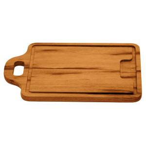Planche à découper avec poignée en bois de Muiracatiara Tramontina 34x23x1.5