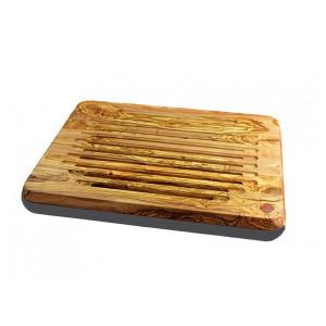 Planche à pain Berard Millenari anthracite avec sac et cire 46 x 36 cm olivier
