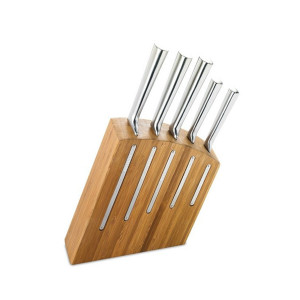 Bloc 5 couteaux de cuisine Jean Dubost bambou