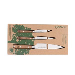 Coffret 3 couteaux de cuisine Jean Dubost Pradel 1920