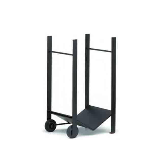 Réserve à bois 75X40 cm roulante noire