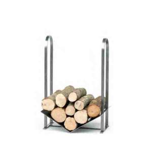 Rangement bois fixe moyen modèle acier brossé verni