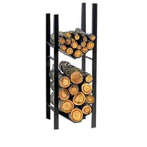 Rangement à bois 115 x 40 x 38 cm noir