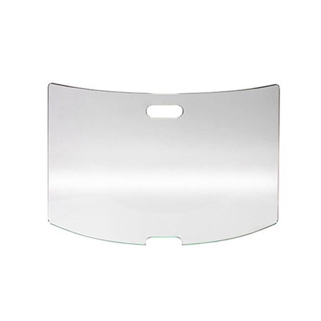 Pare-feu cheminée Le Marquier verre courbé 65 x 45 cm