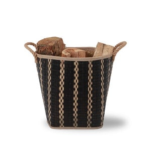 Panier à bois Corda noir