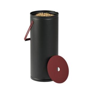 Réservoir à granulés Studio noire & bordeaux 10kg