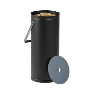 Réservoir à granulés Studio noire & bleue 10kg
