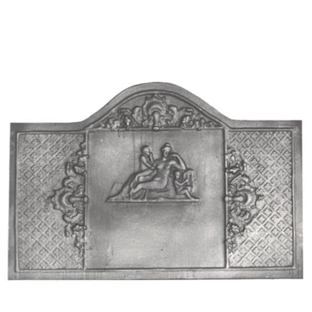 Plaque en fonte cheminée décorée La femme nue 100 x 60 cm