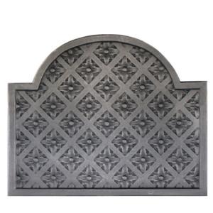 Plaque fonte cheminée décorée Louis XIV 78 x 63 cm