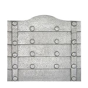 Plaque fonte cheminée décorée Les clous 76 x 68 cm