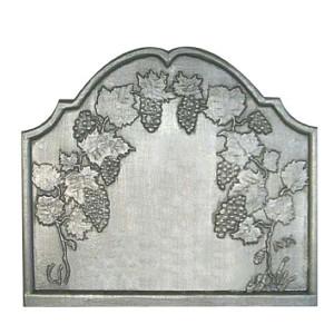 Plaque fonte cheminée décorée La treille aux raisins 73 x 64 cm