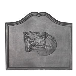 Plaque fonte cheminée décorée Le couple 70 x 60 cm